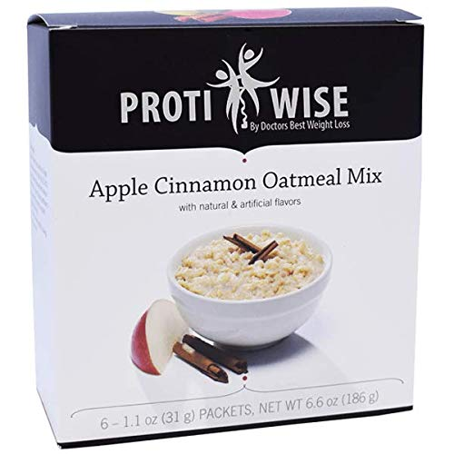 ProtiWise - High Protein Diet Oatmeal | Apple Cinnamon | Low Calorie, Low Fat, by ProtiWise - By Doctors Best Weight Loss