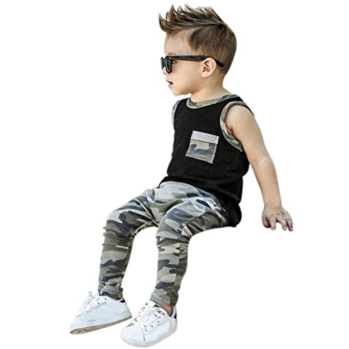 GoodLock Baby Boys Girls Fashion Clothes Toddler Infant Camo