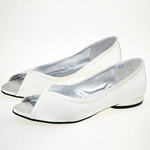 Toe Womens 3cm Heel Comfortable Peep Minitoo Block Heel White Girls Shoes Sandals Satin Wedding Low Dress qtax5q6p