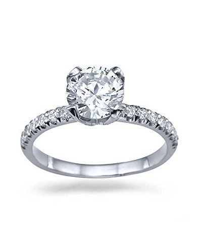 100ct-EVS2-White-Gold-Flower-Unique-Round-Cut-Diamond-Engagement-Ring-14k-White-Gold-Anniversary-Rings-for-Women