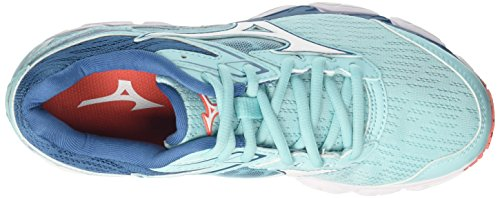 Mizuno Women's Wave Ultima 9 WOS Running Shoes, Blue Turquoise (Aquasplash/White/Bluesapphire 20)