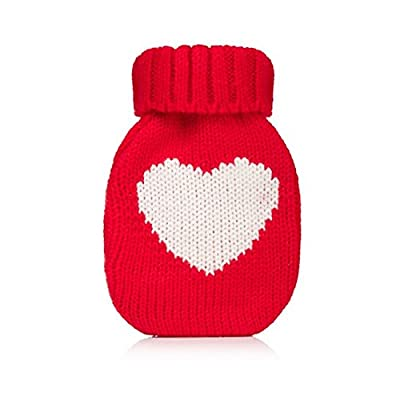 Wrapables Mini Hottie Knitted Hand Warmer w/ Re-usable Hot Pack, Heart Red