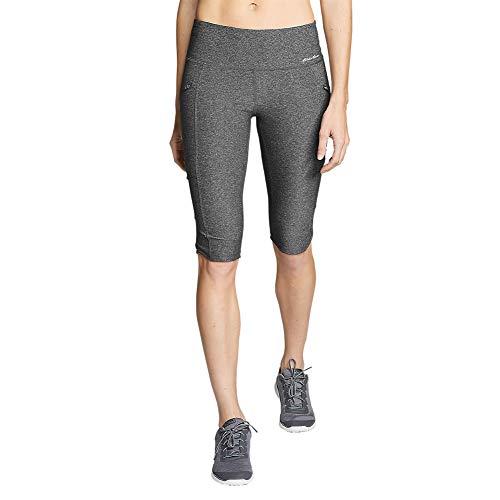 Eddie Bauer Women's Trail Tight Knee Shorts, HTR Gray Regular XXL ()