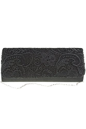 Koko Fashion Bags 2195 Lace Embroidered Bag Black One Size