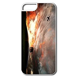 Nice Aeroplane Flying Plastic Cover For IPhone 5/5s