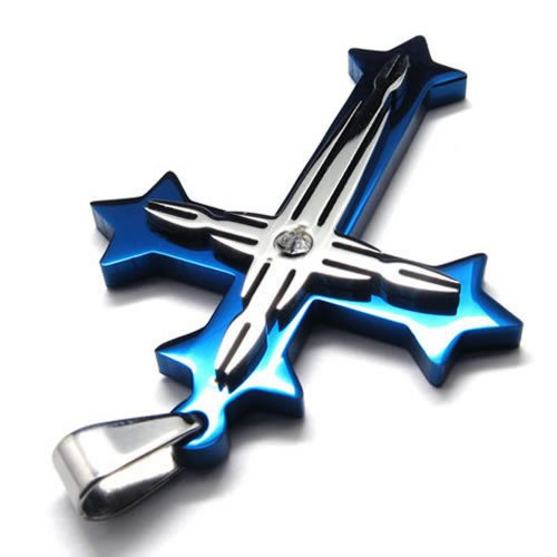 konov-jewelry-mens-stainless-steel-cross-pendant-necklace-blue-silver-with-gift-bag-24-inch-chain-c1