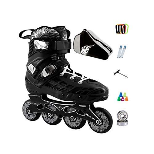 変位貢献するリア王ailj インラインスケート、スケート、大人の男の子、女の子、ローラースケート、プロのコンビネーション、多機能スケート(2色) (色 : 黒, サイズ さいず : EU 35/US 4/UK 3/JP 22.5cm)