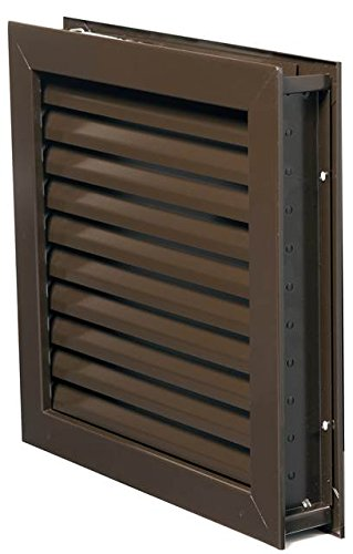 National Guard L1900DKB18X18 L-1900DKB-18X18 Fusible Louver Steel 18 x 18'' , 18'' Height, Bronze by National Guard