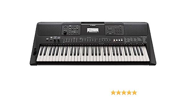 Yamaha - Teclado portátil PSR-E463, 61 teclas, 758 voces