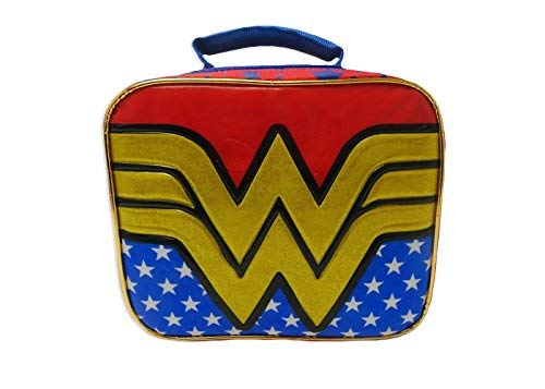 Wonder Woman Insulated Rectangular Lunch Box with Detachable Cape -
