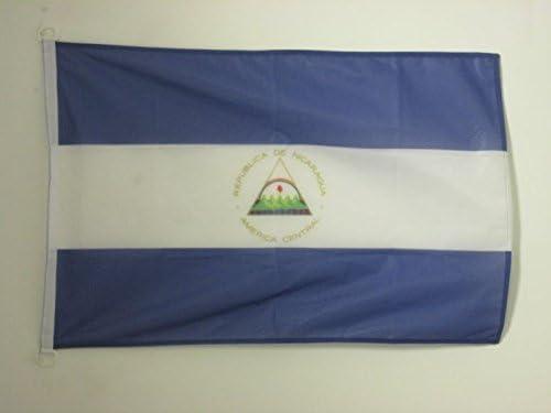 AZ FLAG Bandera Nautica de Nicaragua 45x30cm - Pabellón de conveniencia NICARAGÜENSE 30 x 45 cm Anillos: Amazon.es: Hogar