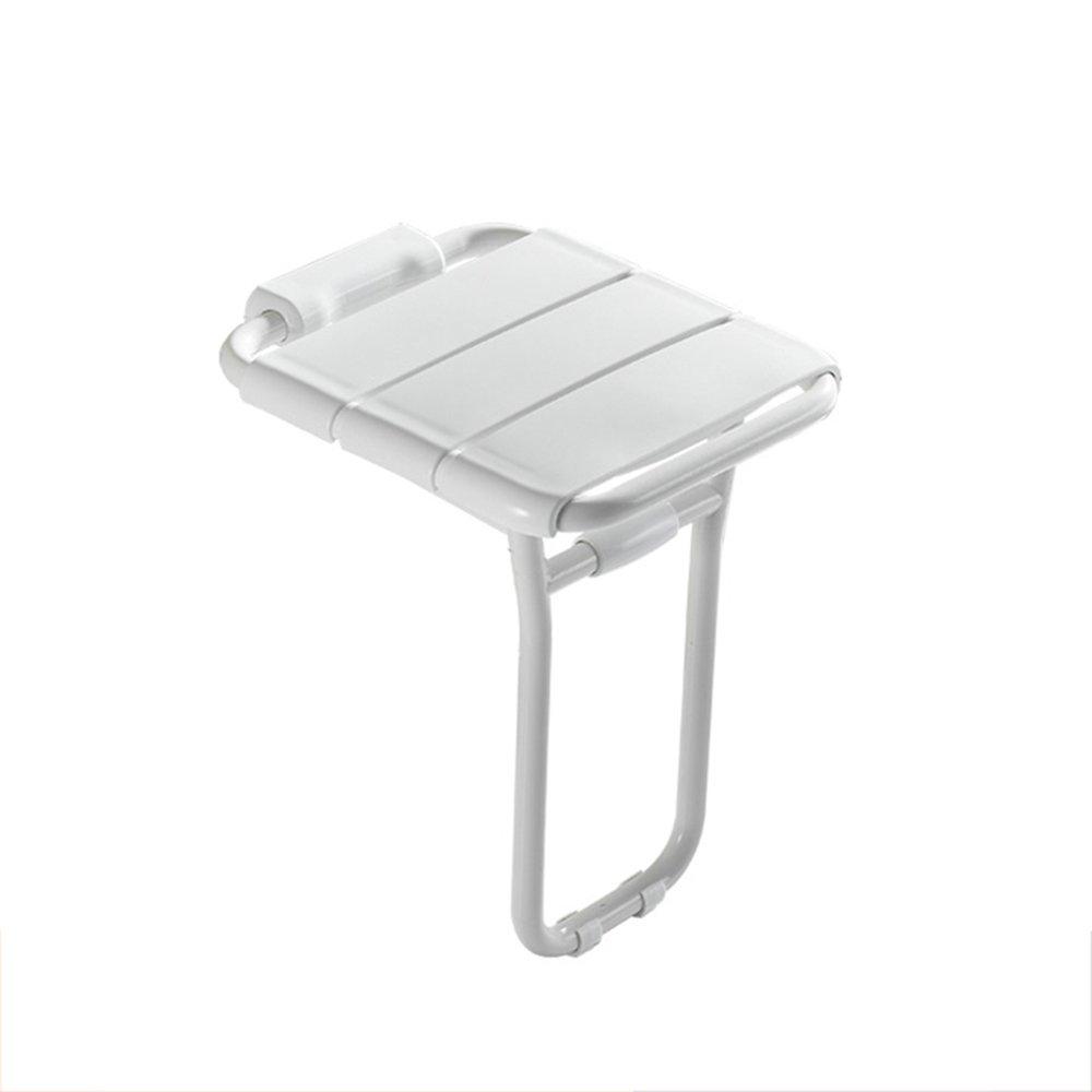 バスルームの椅子/折りたたみ式シャワーチェア/壁掛けシャワースツール/高齢婦人入浴スツール/体重200kg白 B07DHBRPDL