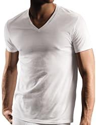 (狂促)DKNY 唐娜卡兰 男士纯棉帅气白色打底衫T恤3件装 $24.00