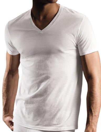 DKNY Men's 3 Pack V-Neck Tee Shirt,White,Small - Dkny White Shirt