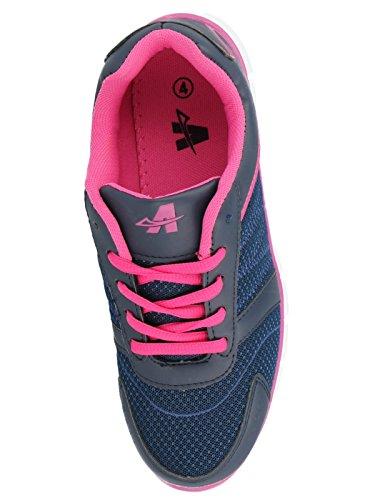 Da con lacci donna leggero nbsp;Galop sport 816109 Navy casual comfort scarpe Fuchsia IIdrXw