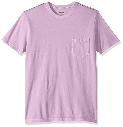 (RVCA Men's PTC 2 Pigment Short Sleeve Pocket T-Shirt, Lavender, S)