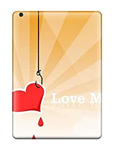 Hot Snap-on Love Me Red Heart Orange White Lines Hearts Romantic Vday February Lovers Valentines Holiday Valentines Day Hard Cover Case/ Protective Case For Ipad Air