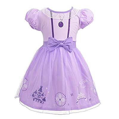 Dressy Daisy Toddler Girls Princess Dresses Up Costume Halloween Birthday Party Size 4T 194: Clothing