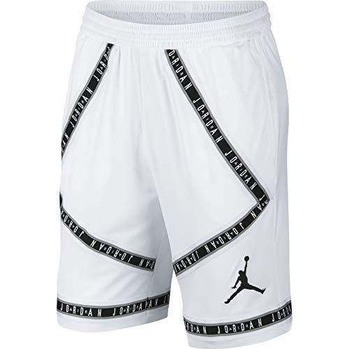 Nike Air Jordan HBR Taping Men's Basketball Shorts (X-Large, White/Black)