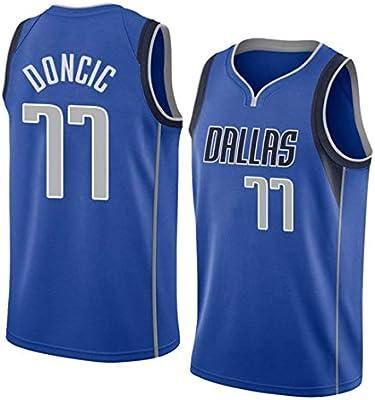 King-mely Hombre Ropa de Baloncesto NBA Dallas Mavericks 77 Doncic ...