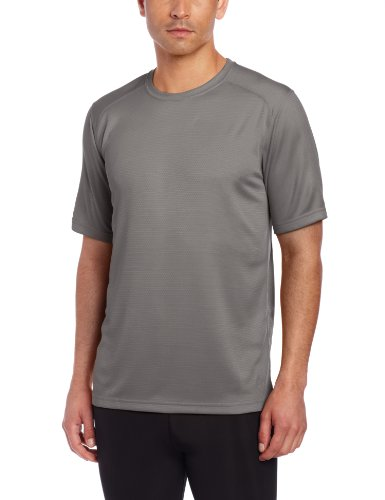Terramar Men's Helix Mountain Short Sleeve Tee W7809, Gun Metal, Medium