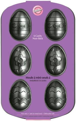 Wilton Nonstick Decorated Egg 6 Cavity Pan