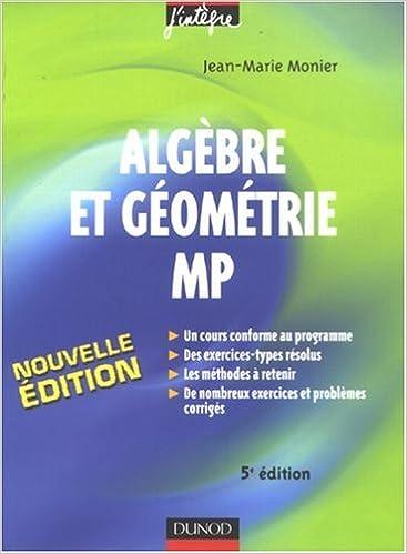 ALGEBRE TÉLÉCHARGER PDF JINTEGRE