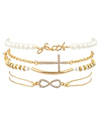 Lux Accessories Women's Arm Candy Multi Bracelet Set