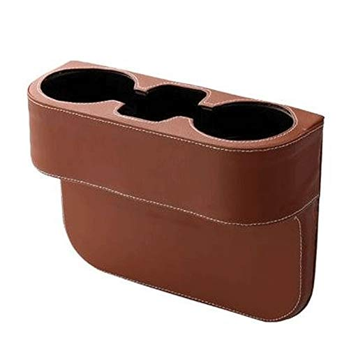 (AZ 3 in 1 Car Cup Holder Inserts Images Bottle Organizer Seat Back Drinking Bracket Car Seat Wedge Water Bottle Holder (Color : Brown))
