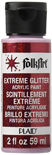 Paint Glitter Red (FolkArt Extreme Glitter Acrylic Paint in Assorted Colors (2 oz), 2792, Red)