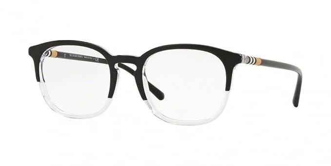 2fdcae93feee Amazon.com  Burberry Men s BE2272 Eyeglasses Top Black On Crystal 51mm   Clothing