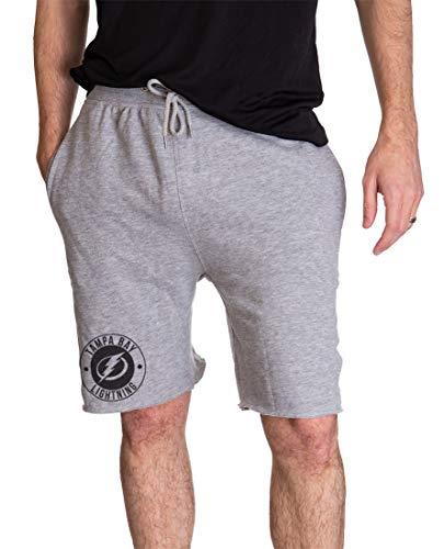 Calhoun NHL Cotton French Terry Athletic Men's Shorts (Medium, Tampa Bay Lightning)