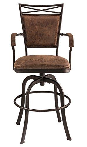 Hillsdale 5759-826 Bridgetown Swivel Tilt Counter Stool, Aged Bronze Finish