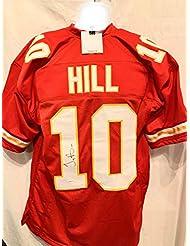 Tyreek Hill Kansas City Chiefs Signed Autograph Red Custom Jersey TSE Sports Certified
