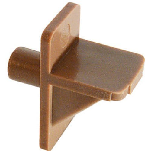 Slide-Co 241945 Shelf Support Peg, 1/4-Inch, Brown Plastic,(Pack of 12) (Cabinet Shelf Supports)