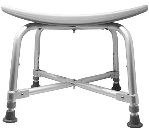 Pivit Bariatric Bath and Shower Bench Stool, 600 lbs   Lightweight Comfortable Seat with Drain Holes   Rust-Proof Legs with Slip Resistant Rubber Tips   No Assembly Required! Lifetime Limited Warranty ()
