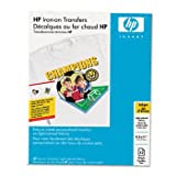 HP C6049A Iron-On Transfers, 8-1/2 x 11, White (Pack of 12)