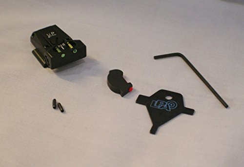 LPA Sight Set, Fully Adjustable Fiber Optic, Ruger P90-P95, P97 -TTF91RU FUSION