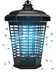 Eesyy Bug Zapper, 4200V Electric Mosquito Killer With Outdoor Dusk to Dawn Built-in Light Sensor, Waterproof Insect Zapper, Powered Electric Insect Killer for Outdoor, Indoor, Backyard, Patio