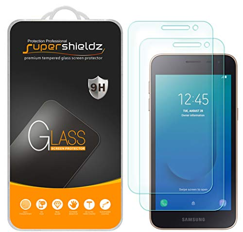 [2-Pack] Supershieldz for Samsung (Galaxy J2 Core) Tempered Glass Screen Protector, Anti-Scratch, Bubble Free -Lifetime Replacement