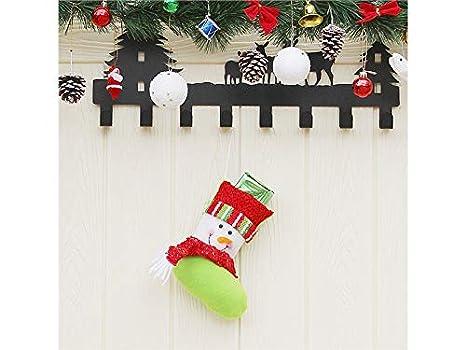 FERFERFERWON Creativo Muñeco de Nieve no Tejido Calcetines de Navidad Bolsa de Dulces Bolsa de Regalo Colgante de árbol de Navidad para el Festival: ...