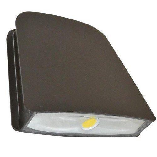 Morris 71321 LED Slim Line Combo Wallpack/Floodlight, 1800 lm, 22W, 5000 K, 120-277V, Bronze ()