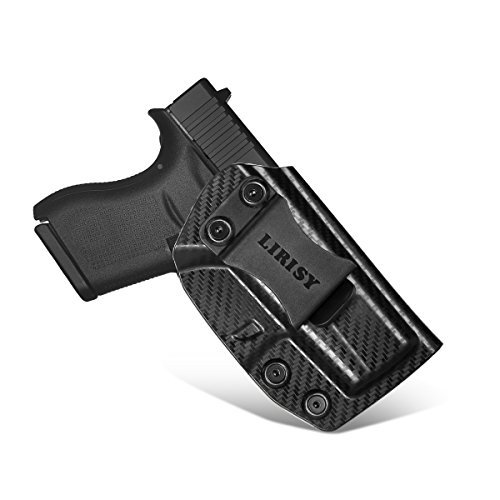 LIRISY Glock 43 IWB Holster for Concealed Carry, Inside The Waistband Pants Holster with Belt Clip, Adjustable KYDEX Holster Fits GLOCK G43, Right-Handed