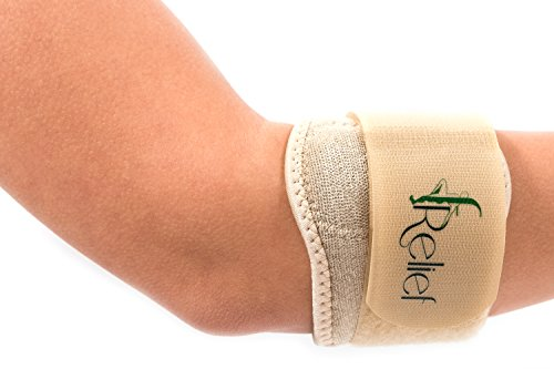fRELIEF Tennis Elbow Brace - Waterproof and Universal - One Size - Pain Relief for Tendonitis, Tennis and Golfers Elbow - Universal Tennis Elbow Neoprene Strap
