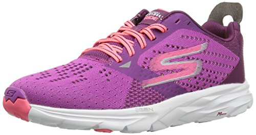 Skechers Performance Damen Go Run Ride 6 Outdoor Fitnessschuhe, Blaugrün Purple (Purple/Ht. Pink)