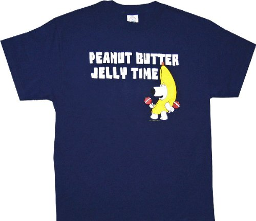 Family Guy Peanut Butter Jelly Time Navy T-shirt Tee