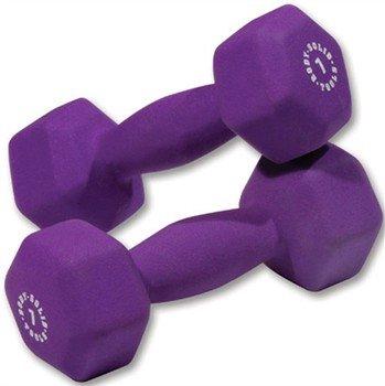 Pair of 7lb. Neoprene Dumbbells – Purple