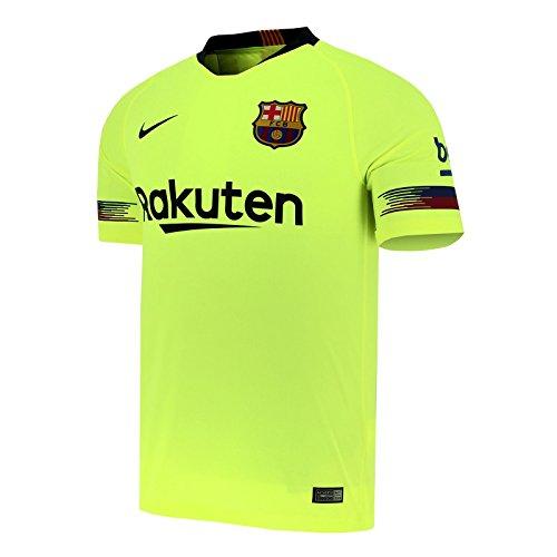 Shirt Away Nike (NIKE 2018-2019 FC Barcelona Away Stadium Jersey (Volt) (L))
