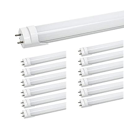 JESLED T8 4FT LED Tubes, 24W 3000LM, Dual-Ended Powered LED Bulbs Replacement for Fluorescent Fixtures, Ballast Bypass, Shatterproof