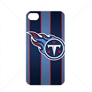 NFL American football Tennessee Titans Fans Apple iPhone 4 / 4s TPU Soft Black or White case (White)
